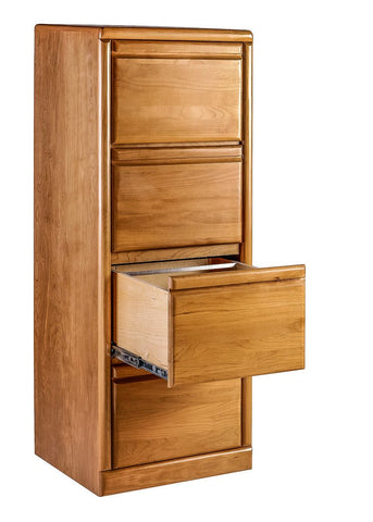 Forest Designs Bullnose Alder Four Drawer File: 22W x 56H x 21D