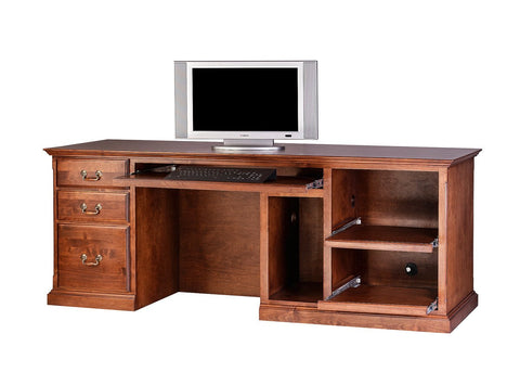 Forest Designs Traditional Alder Computer Desk: 78W x 30H x 28D