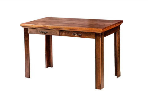 Forest Designs Traditional Alder Writing Table w/ Drawers: 48W X 30H X 24D