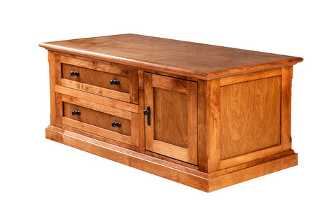 Forest Designs Mission Alder Cocktail Table w/ Raised Panel Sides: 48W X 20H X 24D