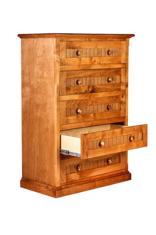 Forest Designs Cottage Five Drawer Dresser: 34W X 48H X 18D