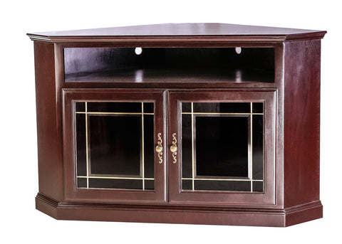Forest Designs Traditional Alder Corner TV Cart: 51W x 32H x 32D