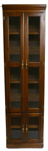 Forest Designs Traditional Bookcase with Glass Doors: 24W x 18D Choose Your Height