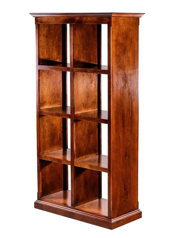 Forest Designs Traditional Alder Display Bookacse 2 X 4: 32W X 67H X 17D