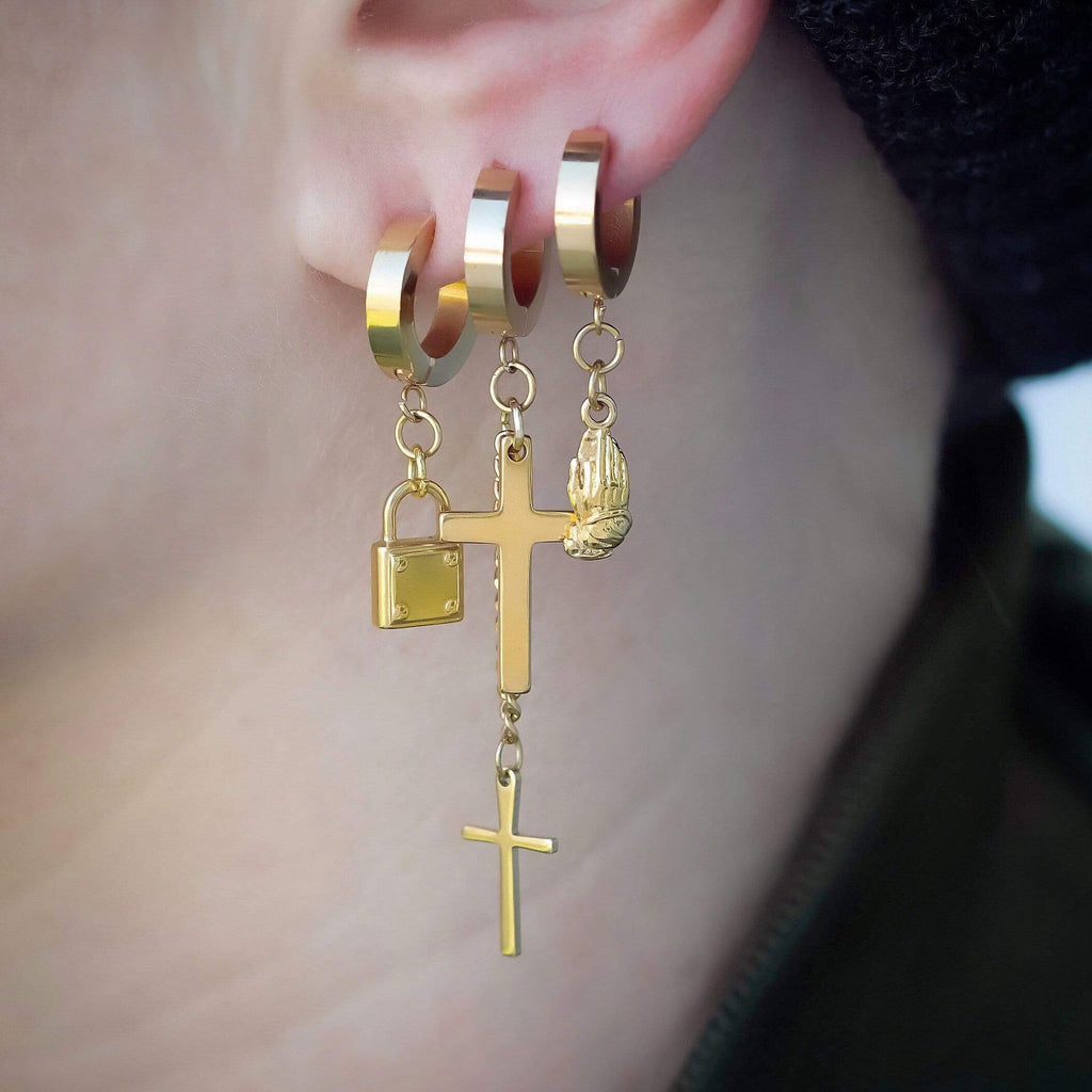Mister Double Cross Earring