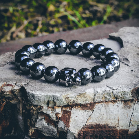Mister Gem Skull Bead Bracelet - Gunmetal - Mister SFC - Fashion Jewelry - Fashion Accessories