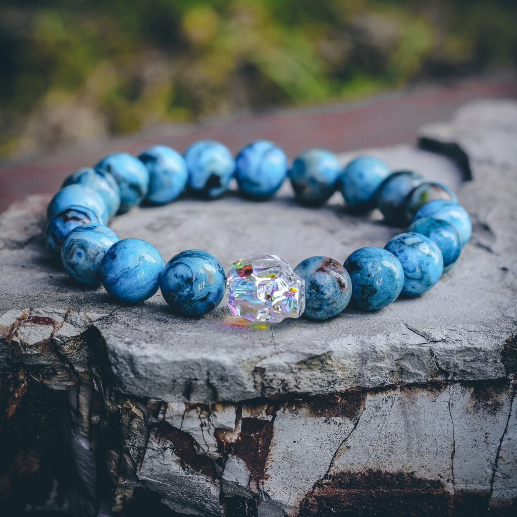 Mister Gem Skull Bead Bracelet - Ocean - Mister SFC - Fashion Jewelry - Fashion Accessories