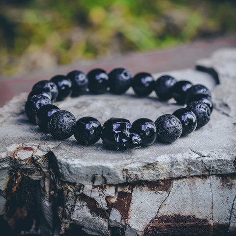 Mister Gem Skull Bead Bracelet - Onyx - Mister SFC - Fashion Jewelry - Fashion Accessories