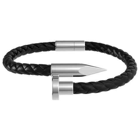 Mister Nail Leather Bracelet - Black - Mister SFC - Fashion Jewelry - Fashion Accessories