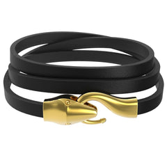 Mister Serpent Wrap Leather Bracelet