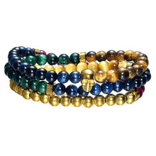 Load image into Gallery viewer, Mister Trinum Bead Bracelet - Tiger Eye