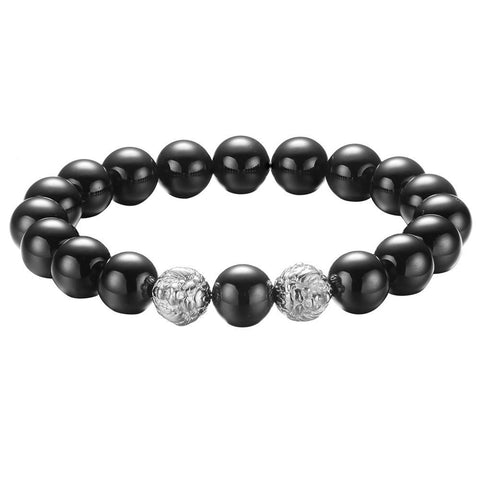 Mister Twin Lion Plus Bead Bracelet