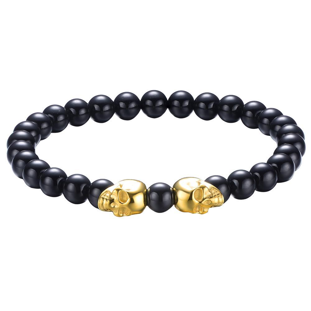 Mister Twin Skull Bead Bracelet - Mister SFC - Fashion Jewelry - Fashion Accessories