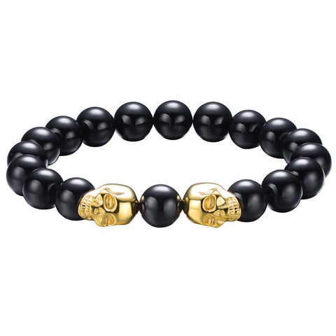 Mister Twin Skull Plus Bead Bracelet - Mister SFC - Fashion Jewelry - Fashion Accessories