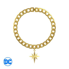 Load image into Gallery viewer, Wonder Woman™ Gold Star Curb Bracelet