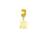 Mister Old English Initial Earring j