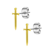 Load image into Gallery viewer, Mister Sword Stud Earrings