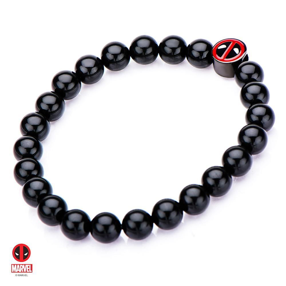 The Marvel Deadpool Bead Bracelet - Black - Mister SFC - Fashion Jewelry - Fashion Accessories