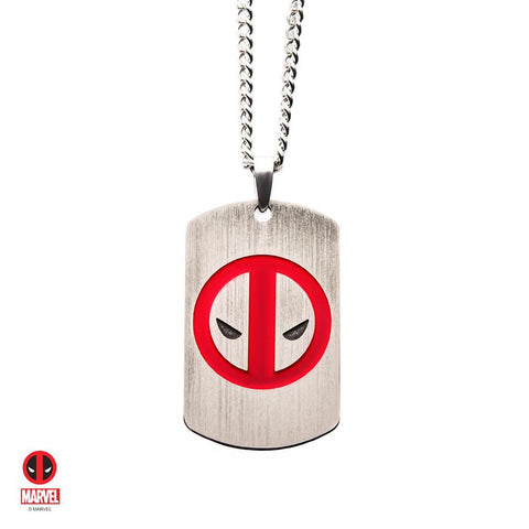 The Marvel Deadpool Tag Necklace - Chrome - Mister SFC - Fashion Jewelry - Fashion Accessories