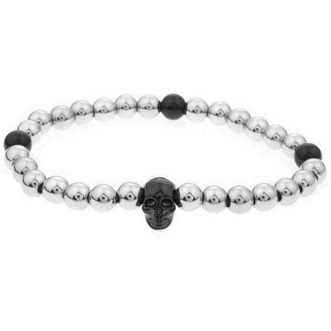 Mister Annum Bead Bracelet - Chrome & Black/Black - Mister SFC - Fashion Jewelry - Fashion Accessories