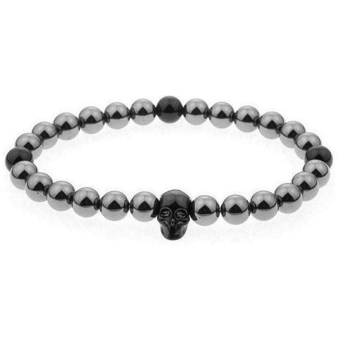 Mister Annum Bead Bracelet - Gunmetal & Black/Black - Mister SFC - Fashion Jewelry - Fashion Accessories
