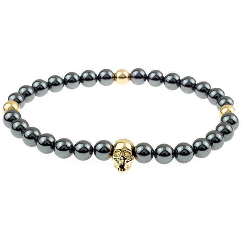 Mister Annum Bead Bracelet - Gunmetal & Gold/Gold - Mister SFC - Fashion Jewelry - Fashion Accessories