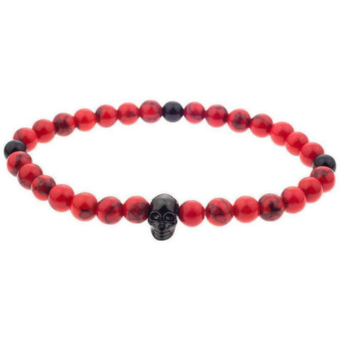 Mister Annum Bead Bracelet - Red & Black/Black - Mister SFC - Fashion Jewelry - Fashion Accessories