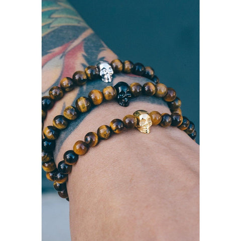 Mister Annum Bead Bracelet - Tiger & Black/Black - Mister SFC - Fashion Jewelry - Fashion Accessories