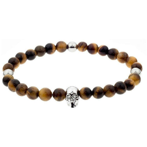 Mister Annum Bead Bracelet - Tiger & Chrome/Chrome - Mister SFC - Fashion Jewelry - Fashion Accessories