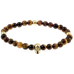 Mister Annum Bead Bracelet - Tiger & Gold/Gold - Mister SFC - Fashion Jewelry - Fashion Accessories