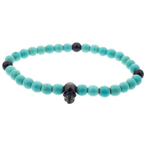 Mister Annum Bead Bracelet - Turquoise & Black/Black - Mister SFC - Fashion Jewelry - Fashion Accessories