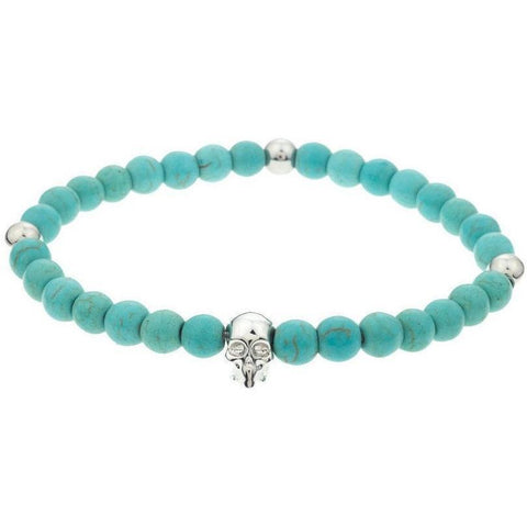 Mister Annum Bead Bracelet - Turquoise & Chrome/Chrome - Mister SFC - Fashion Jewelry - Fashion Accessories