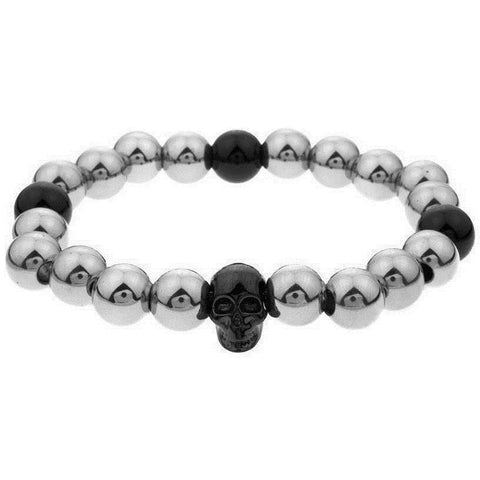 Mister Annum Plus Bead Bracelet - Chrome & Black - Mister SFC - Fashion Jewelry - Fashion Accessories