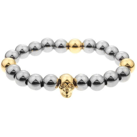 Mister Annum Plus Bead Bracelet - Chrome & Gold - Mister SFC - Fashion Jewelry - Fashion Accessories