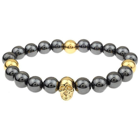 Mister Annum Plus Bead Bracelet - Gunmetal & Gold - Mister SFC - Fashion Jewelry - Fashion Accessories