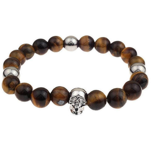 Mister Annum Plus Bead Bracelet - Tiger & Chrome - Mister SFC - Fashion Jewelry - Fashion Accessories