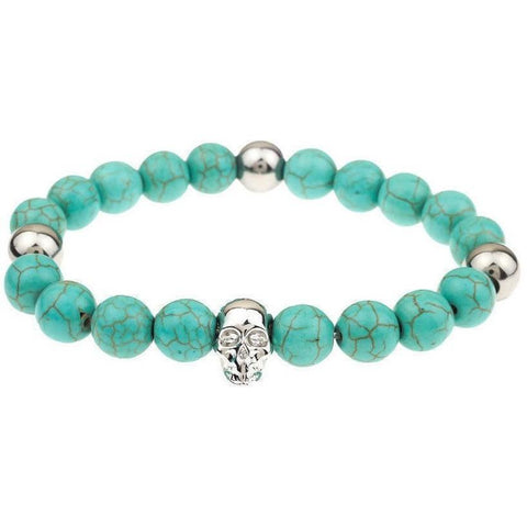 Mister Annum Plus Bead Bracelet - Turquoise & Chrome - Mister SFC - Fashion Jewelry - Fashion Accessories