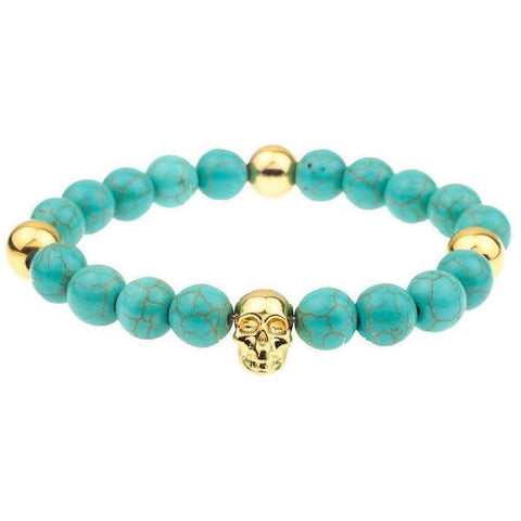 Mister Annum Plus Bead Bracelet - Turquoise & Gold - Mister SFC - Fashion Jewelry - Fashion Accessories