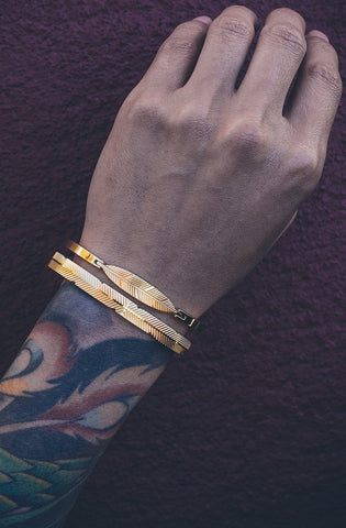 *Mister Axle Feather Bracelet - Rose Gold - Mister SFC - Fashion Jewelry - Fashion Accessories