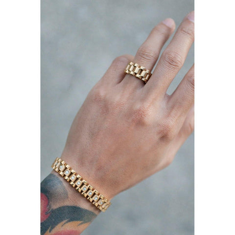 Mister  Band Ring - Gold - Mister SFC - Fashion Jewelry - Fashion Accessories