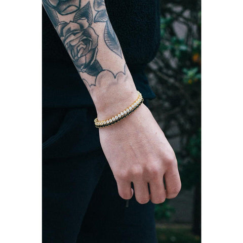 Mister Crystal Bracelet - Gold & Black - Mister SFC - Fashion Jewelry - Fashion Accessories