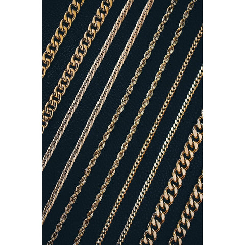 Mister Facet Curb Chain - Gold-NECKLACE-Mister SFC