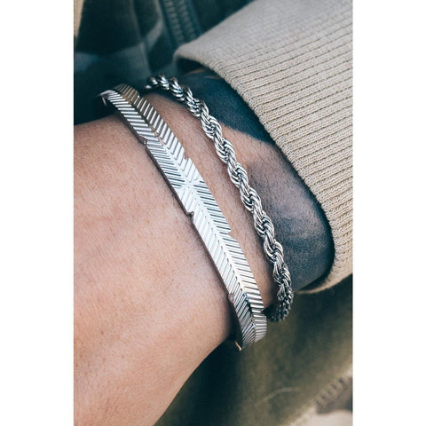 *Mister Feather Cuff Bracelet - Chrome - Mister SFC - Fashion Jewelry - Fashion Accessories