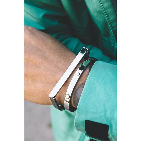*Mister Hex Cuff Bracelet - Chrome - Mister SFC - Fashion Jewelry - Fashion Accessories