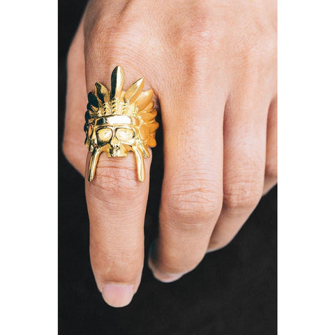 *Mister  Indian Chief Ring - Gold - Mister SFC - Fashion Jewelry - Fashion Accessories