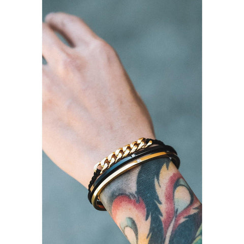 *Mister Level Gem Cuff Bracelet - Black - Mister SFC - Fashion Jewelry - Fashion Accessories