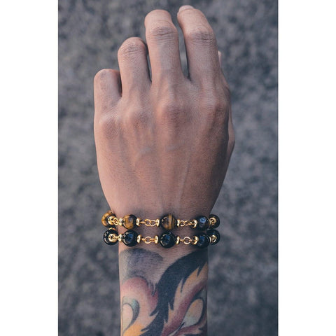 Mister Maxime Bead Bracelet - Onyx & Gold - Mister SFC - Fashion Jewelry - Fashion Accessories
