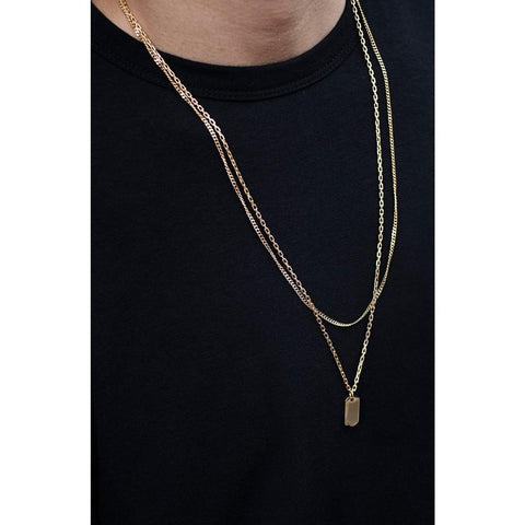Mister  Micro Tag Necklace - Gold - Mister SFC - Fashion Jewelry - Fashion Accessories