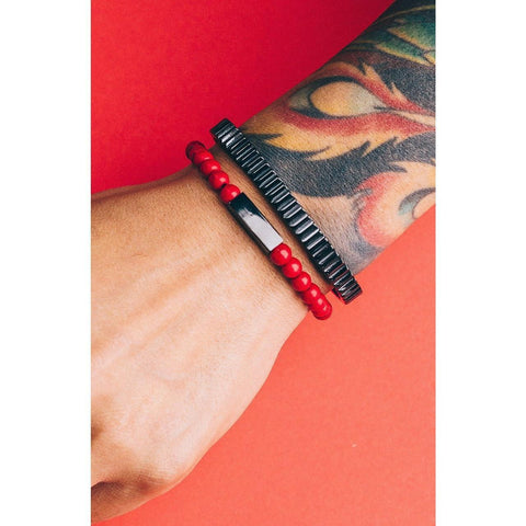 Mister Prime Bead Bracelet - Red - Mister SFC - Fashion Jewelry - Fashion Accessories