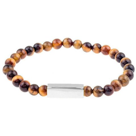 Mister Prime Bead Bracelet - Tiger & Chrome - Mister SFC - Fashion Jewelry - Fashion Accessories